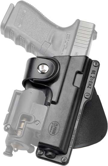 Кобура Fobus для Glock-17/22 с подствольным фонарем, поясной фиксатор