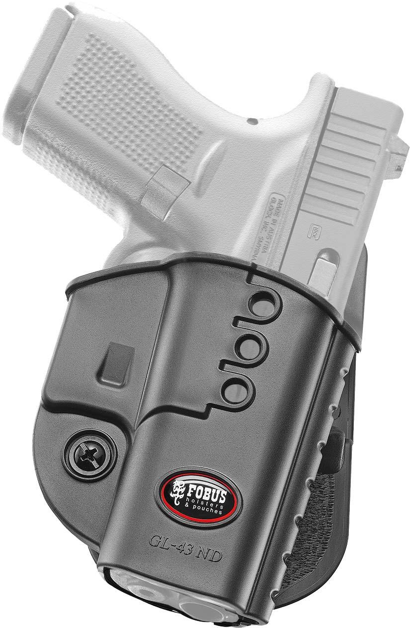 Кобура Fobus для Glock 43 с поясным фиксатором, под левую руку.