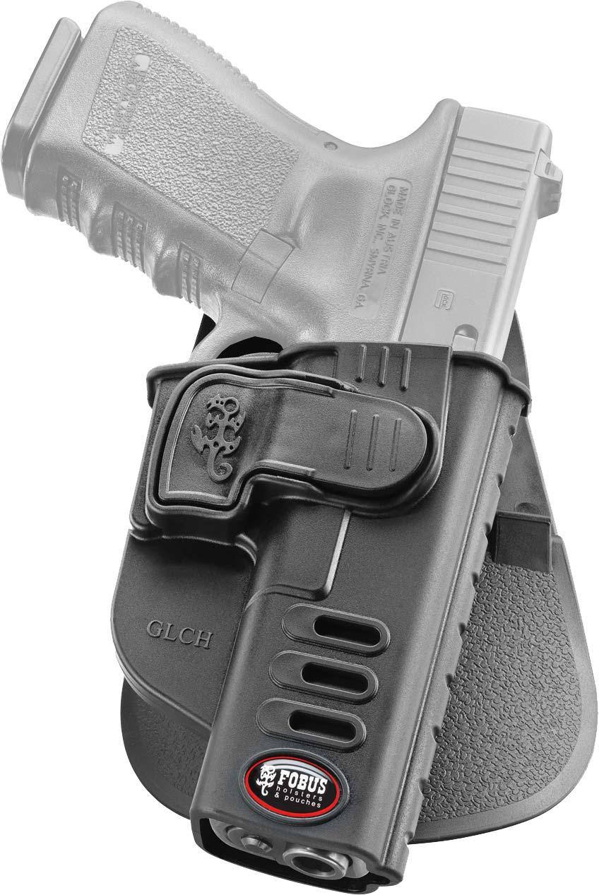 Кобура Fobus для Glock-17/19 с креплением на ремень, поворотная, замок на скобе.
