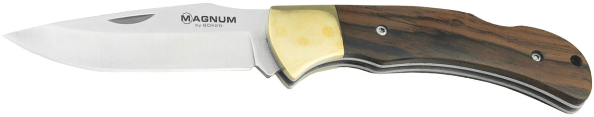 Нож Boker Magnum Farmer's Friend, сталь – 440A, рукоятка – сандаловое дерево, обычная режущая кромка, длина клинка – 80 мм, общая длина – 180 мм
