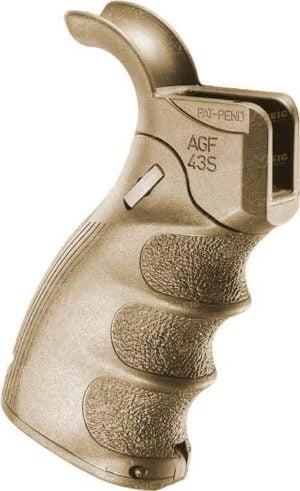 Рукоятка пистолетная FAB Defense AGF-43S тактическая складная для AR15. Desert Tan