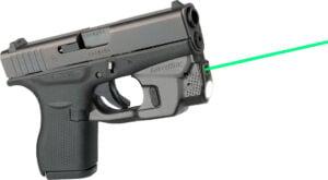 Целеуказатель LaserMax на скобу для Glock 42/ 43 с фонарем (зеленый)