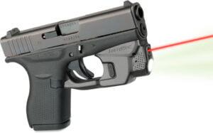 Целеуказатель LaserMax на скобу для Glock 42/ 43 с фонарем (красный)