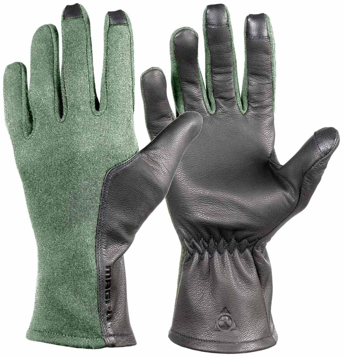 Перчатки Magpul Flight Gloves. Размер – L. Цвет – серо-зелёный.