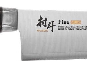 Нож кухонный Shimomura Fine Santoku. Длина клинка – 170 мм, длина общая – 295 мм