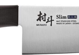 Нож кухонный Shimomura Slim Santoku. Длина клинка – 165 мм, длина общая – 295 мм