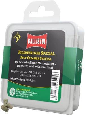 Патч для чистки Ballistol войлочный специальный для кал. 22. 60шт/уп