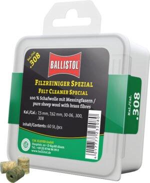 Патч для чистки Ballistol войлочный специальный для кал. 308. 60шт/уп