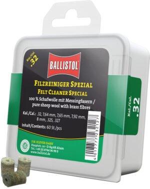 Патч для чистки Ballistol войлочный специальный для кал. 8 мм. 60шт/уп