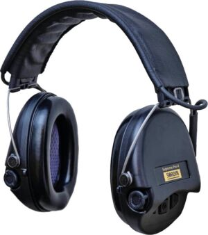 Наушники Sordin Supreme Pro X с кожаным оголовьем. Цвет: черный