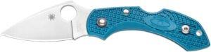 Нож Spyderco Dragonfly 2 Blue, сталь – K390, рукоятка – FRN, клипса, длина клинка – 58 мм, длина общая – 143 мм.