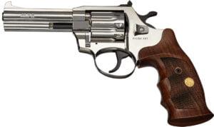 Револьвер флобера Alfa mod.441 4″ 4 мм №9. Никель. Дерево