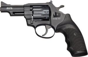 Револьвер флобера Alfa mod.431 3″ 4 мм №7. Воронение. Пластик