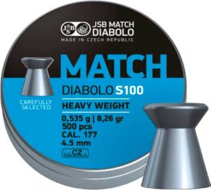 Пули пневм JSB Match HW, 4,51 мм , 0,535 г, 500 шт/уп