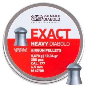 Пули пневм JSB Diabolo Exact Heavy, 4,52 мм , 0,670 гр. (200шт/уп)