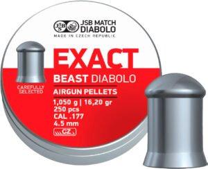 Пули пневм JSB Diabolo Exact Beast 4,52 мм 1,05 гр. (250 шт/уп)