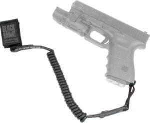 Ремень страховочный пистолетный BLACKHAWK Tactical Pistol Lanyard. Цвет – черный