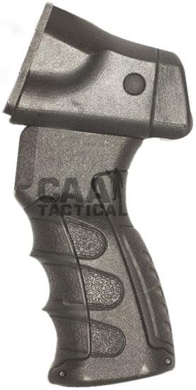 Рукоятка пистолетная CAA для Rem870 с переходником для трубы приклада. Материал – пластик. Цвет – черный.