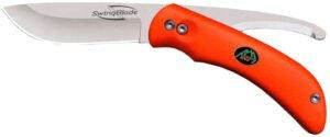 Нож Outdoor Edge SwingBlade Orange Clam, сталь – 420J2, рукоятка – TPR, обычная режущая кромка, длина клинка – 90 мм, общая длина – 211 мм