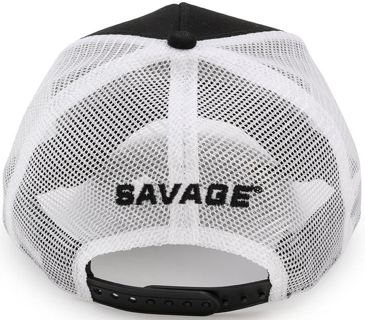 Кепка Savage Trucker hat W/WHITE Savage logo ц:белый/черный