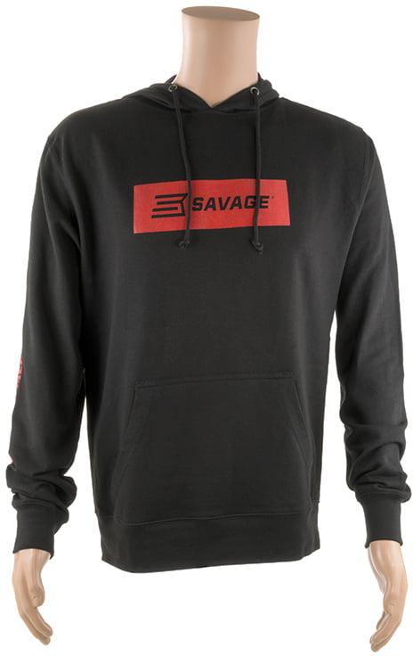 Реглан Savage Long sleeve hooded T-Shirt XL с капюшоном ц:черный