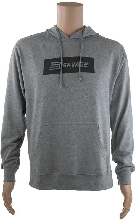 Реглан Savage Long sleeve hooded T-Shirt 2XL с капюшоном ц:серый