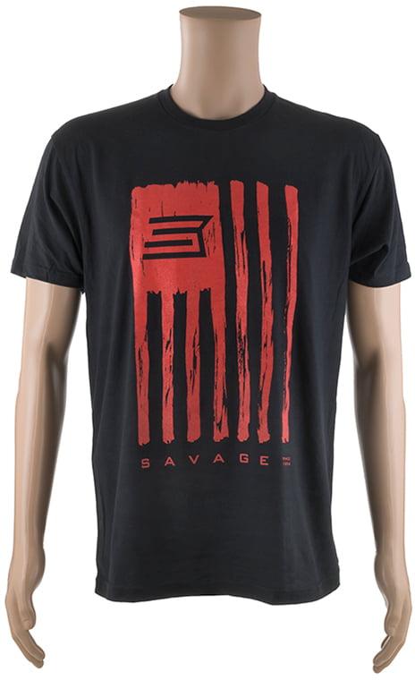 Футболка Savage Short sleeve T-Shirt/Savage Flag 2XL ц:черный