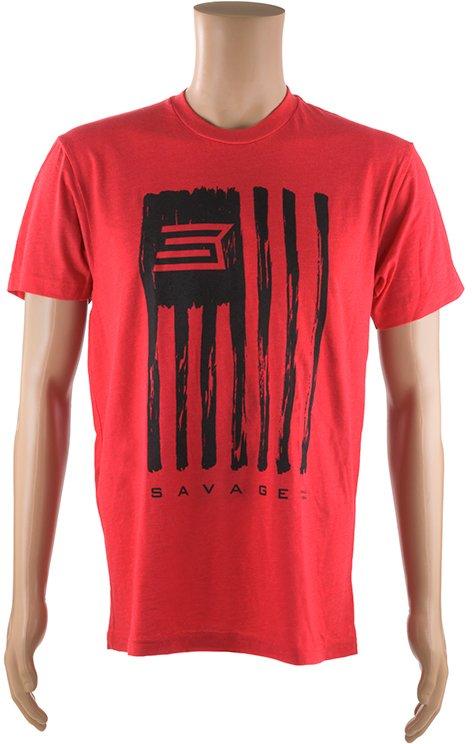 Футболка Savage Short sleeve T-Shirt/Savage Flag L ц:красный