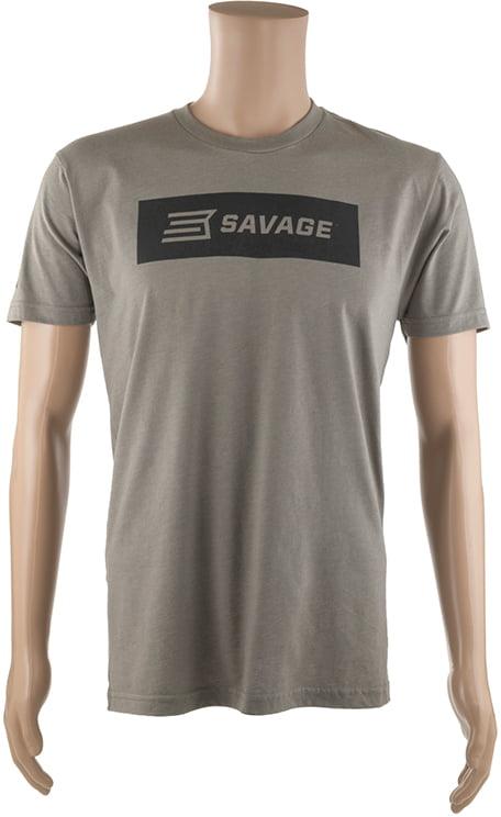 Футболка Savage Short sleeve T-Shirt/Black Savage box logo L ц:серый