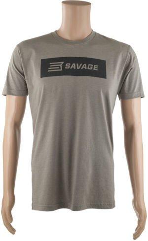 Футболка Savage Short sleeve T-Shirt/Black Savage box logo XL ц:серый