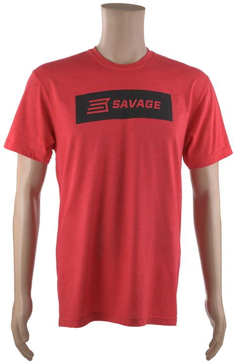 Футболка Savage Short sleeve T-Shirt/Black Savage box logo 2XL ц:красный