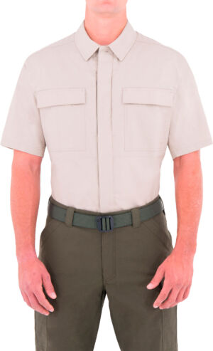 Тенниска First Tactical 51% polyester/49% cotton. Размер – S. Цвет – хаки