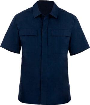 Тенниска First Tactical 51% polyester/49% cotton. Размер – 2XL. Цвет – темно-синий