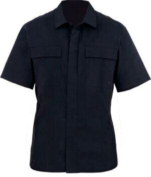 Тенниска First Tactical 51% polyester/49% cotton. Размер – S. Цвет – черный