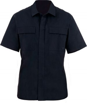 Тенниска First Tactical 51% polyester/49% cotton. Размер – М. Цвет – черный