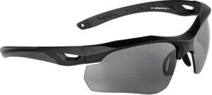 Очки баллистические Swiss Eye Skyray. Цвет – черный, 2 сменные линзы (прозрачный/затемненный), чехол из микрофибрового материала, футляр