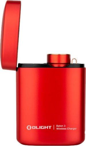 Фонарь Olight Baton 3 Premium Red с зарядной станцией