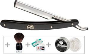 Набор для бритья Boker Gift Set Barberette Black , (сменные лезвия)