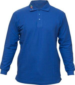 Футболка Castellani Polo M дл. рукав ц:голубой