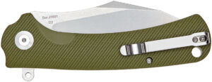 Нож CJRB Talla G10 Green, общая длина – 210 мм, длина клинка – 90 мм, рукоять – G10, сталь – D2