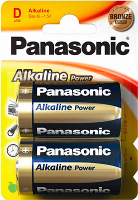 Батарея Panasonic ALKALINE POWER D BLI 2