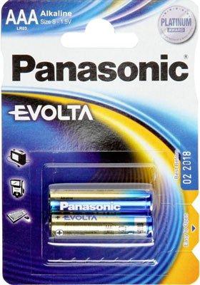 Батарея Panasonic EVOLTA AАA BLI 2 ALKALINE
