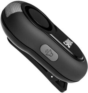 Персональная сигнализация Sabre 120 dB, с клипсой и фонарем
