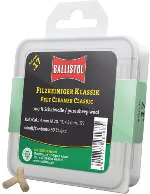 Патч для чистки Ballistol войлочный классический для кал.17. 60шт/уп