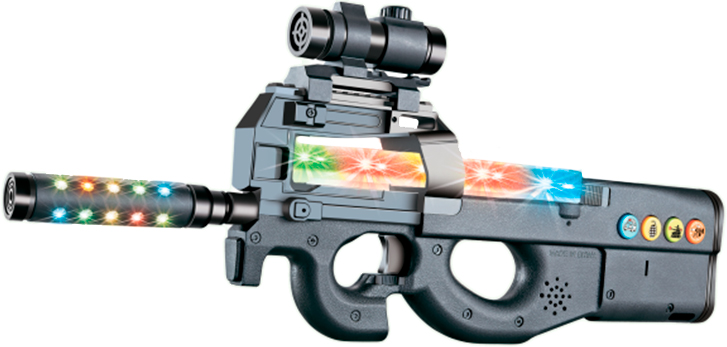 Автомат свето-звуковой ZIPP Toys FN P90 ц:черный