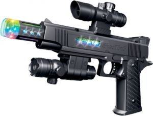 Пистолет свето-звуковой ZIPP Toys Colt 1911. Цвет – черный