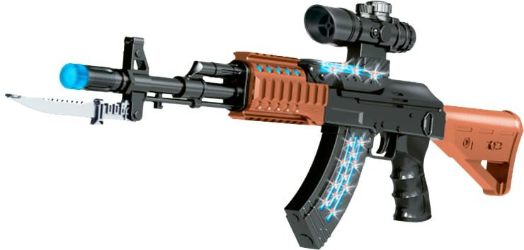 Автомат свето-звуковой ZIPP Toys AK47 ц:черный