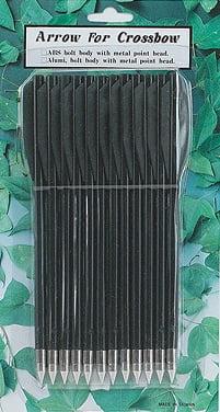 Стрелы для пист.арбалета Man Kung MK-PL-BK, пластик,12 шт/уп, ц:черный
