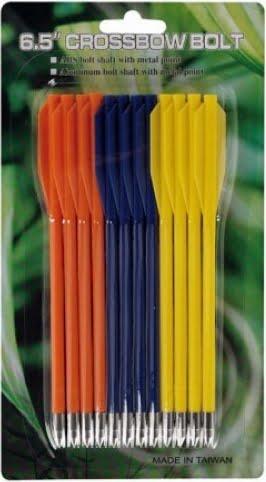 Стрелы для пист.арбалета Man Kung MK-PL-3C, пластик, 12 шт/уп, 3 цвета ц:желтый, синий, оранжевый