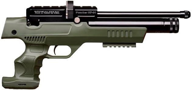 Пистолет пневм. Kral NP-01 PCP 4,5 мм ц:olive